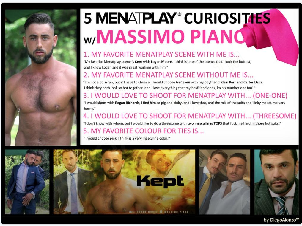 MASSIMO PIANO, LACE and MEN AT PLAY.